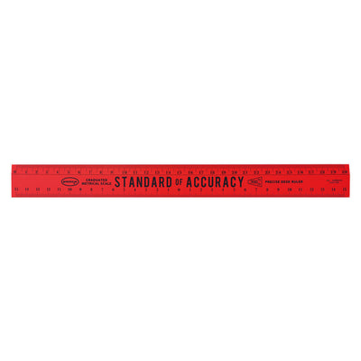 Penco Wooden Metric Rulers |  Various Colors Hightide Red - GREER Chicago