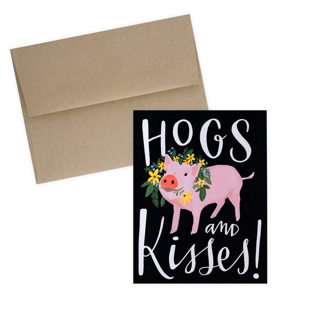 Hogs and Kisses Card - GREER Chicago Online Stationery