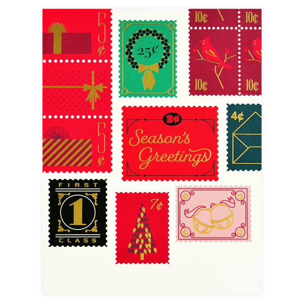 Snow & Graham Holiday Stamp Cards Boxed - GREER Chicago Online Stationery Shop