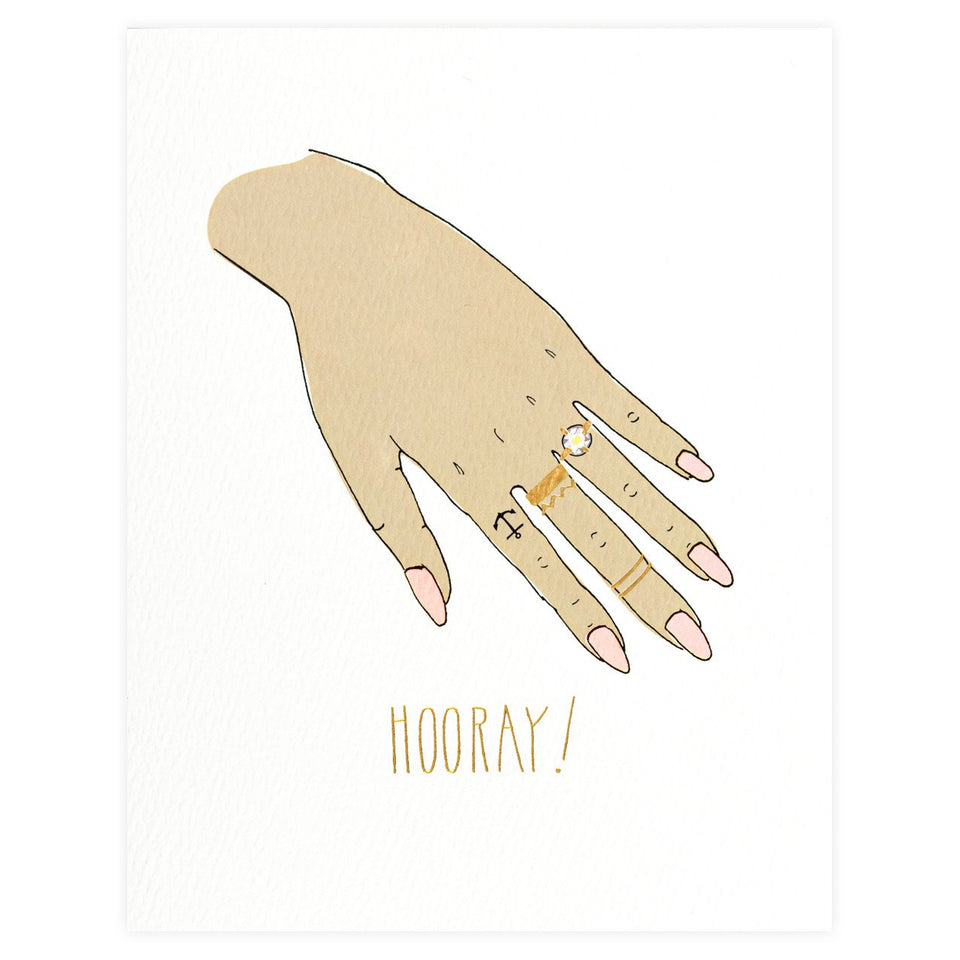 Hartland Brooklyn HOORAY! Engagement Card