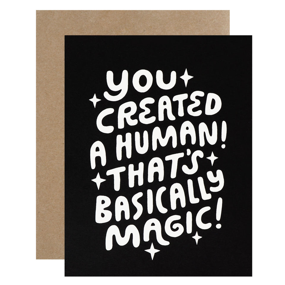 Worthwhile Paper Human Magic New Baby Card