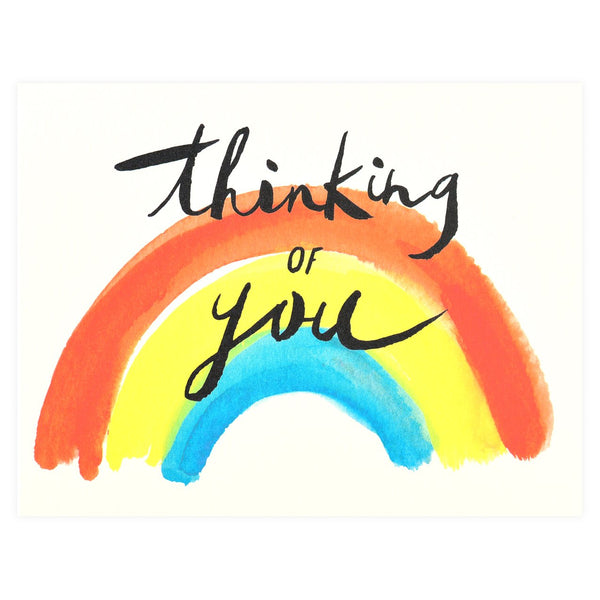 Idlewild Co. Thinking of You Rainbow Greeting Card - GREER Chicago Online Stationery Shop