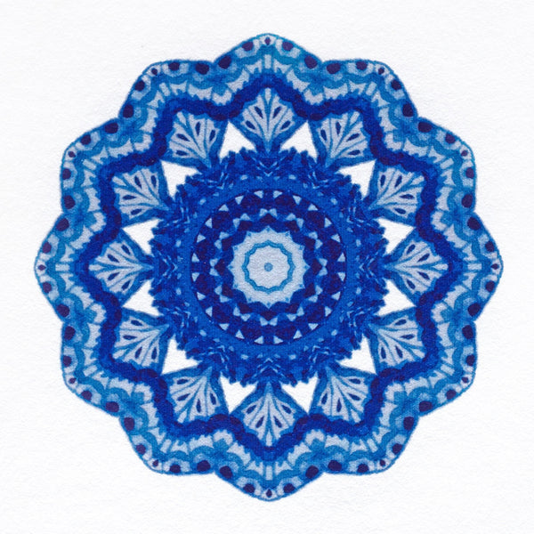 Indigo Mandala Folded Thank You Cards By GREERChicago - 1