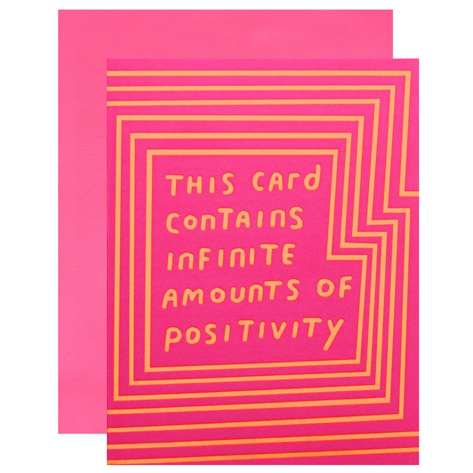 Ashkahn Infinite Positivity Greeting Card