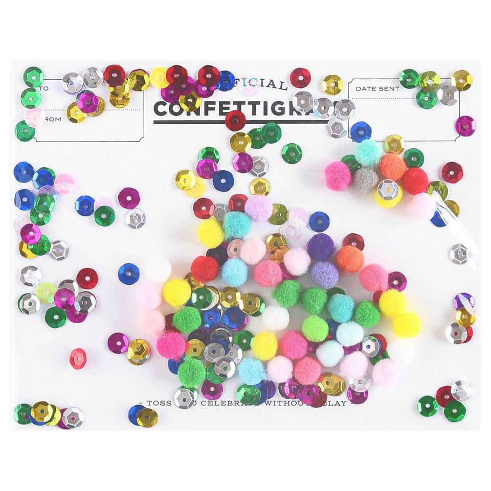 Confettigram Pom Pom Greeting Card