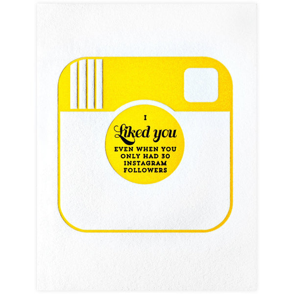 Instagram Friendship Card By Paper Bandit Press