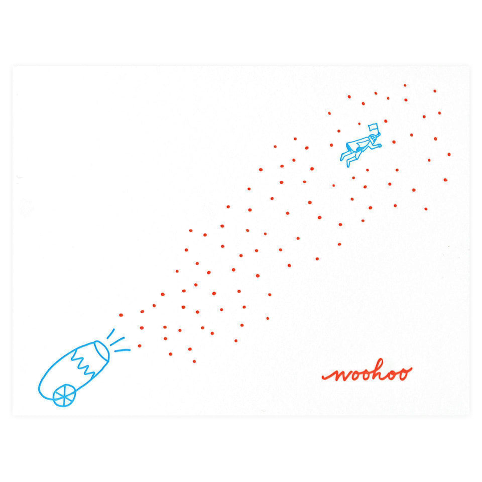 Iron Curtain Press Confetti Cannon Greeting Card