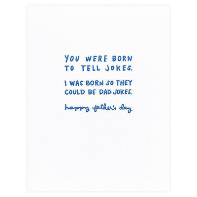Iron Curtain Press Dad Jokes Father's Day Card - GREER Chicago Online Stationery Shop