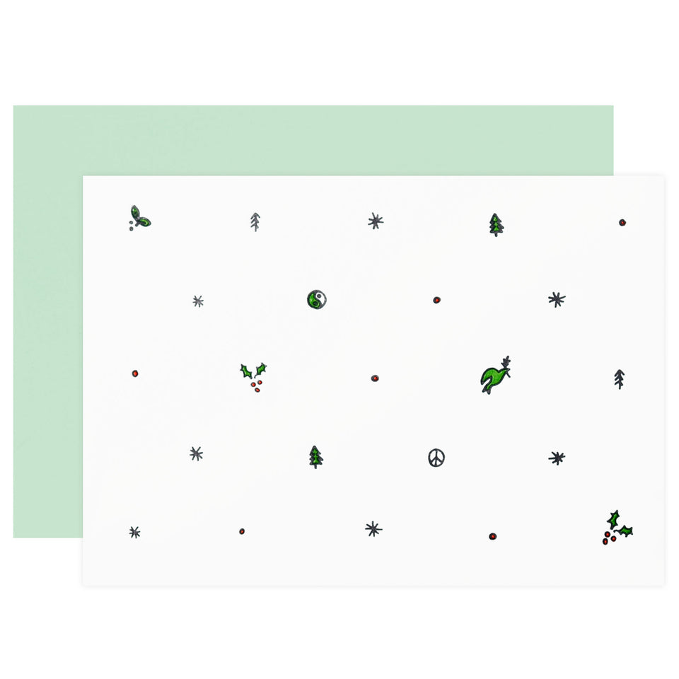 Iron Curtain Press Holiday Pattern Cards Boxed
