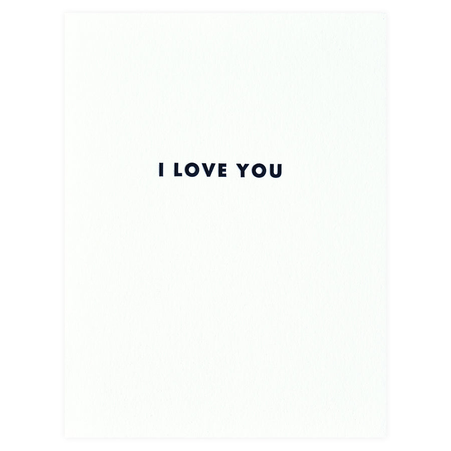 Iron Curtain Press Futura I Love You Greeting Card