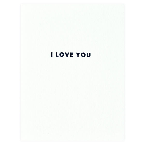 Iron Curtain Press Futura I Love You Greeting Card - GREER Chicago Online Stationery Shop