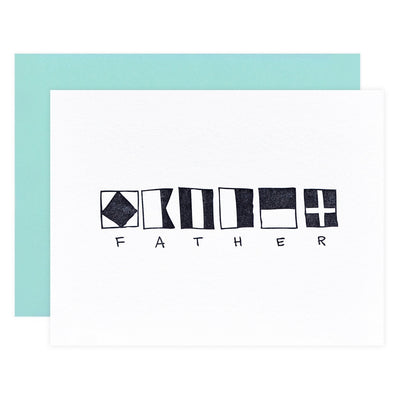 Iron Curtain Press Nautical Father Father's Day Card - GREER Chicago Online Stationery Shop