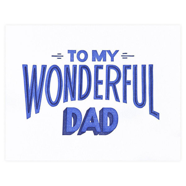 Most Wonderful Dad Father's Day Card