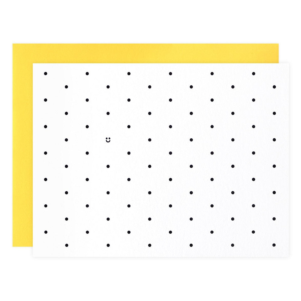 Iron Leaf Press Polka Dot Smiles Folded Note Cards Boxed
