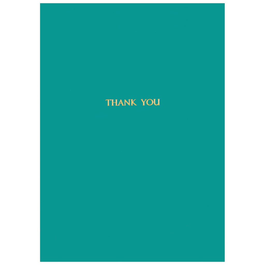 Gold Foil Thank You Jade By GREERChicago
