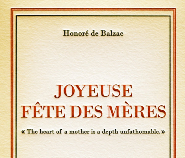 Joyeuse Fête des Mères Mother's Day Card - GREER Chicago Online Stationery