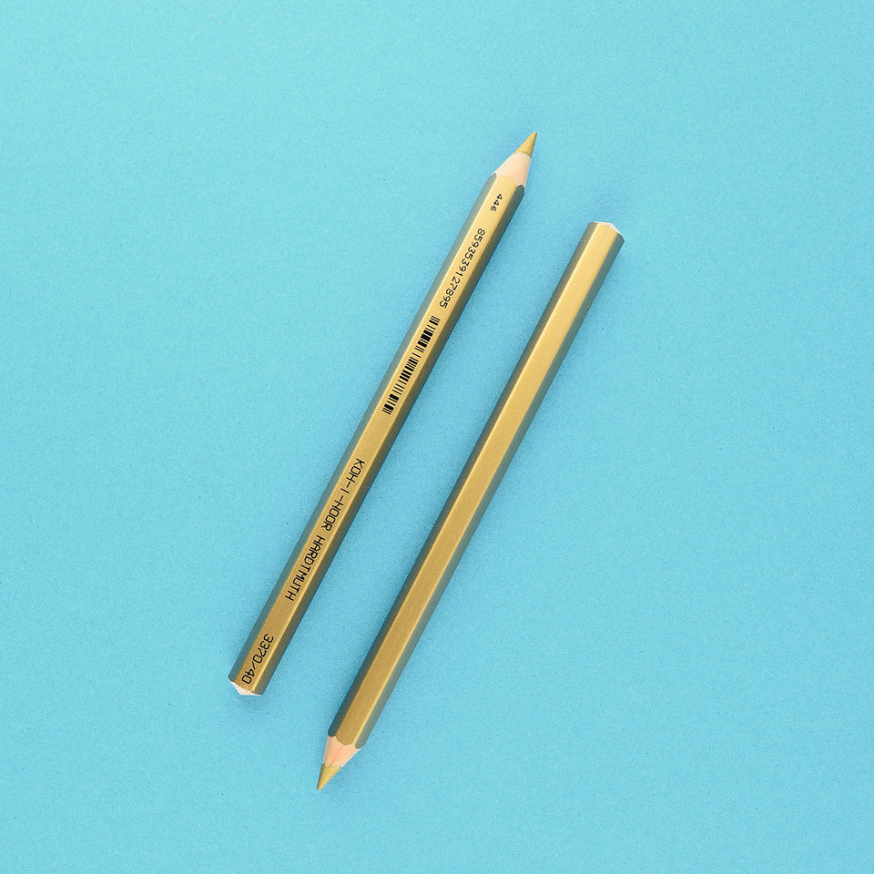 Koh-I-Noor Koh-i-Noor Jumbo  Colored  Pencil Gold Metallic