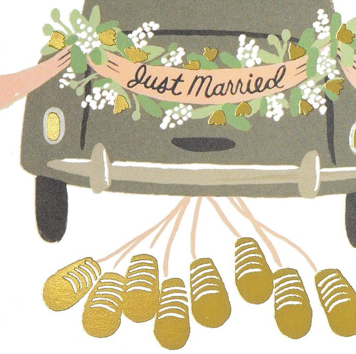 Rifle Paper Co. Just Married Getaway Wedding Card - GREER Chicago Online Stationery Shop