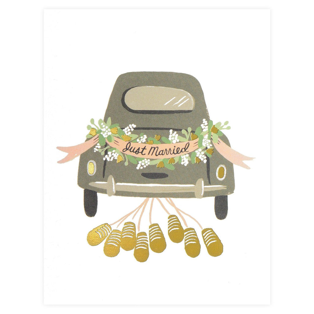 Rifle Paper Co. Just Married Getaway Wedding Card