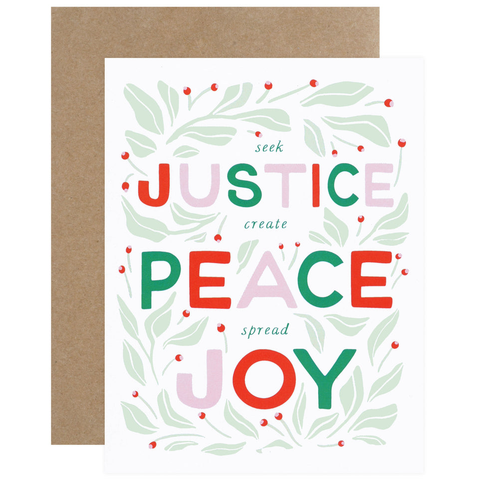 Party Of One Paper Justice Christmas Cards Boxed or Single