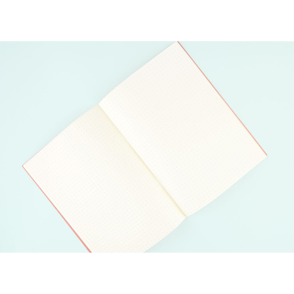 Kawachiya Paper Lab Kamon Letterpress Notebook Dot Grid A5 | 4 Colors