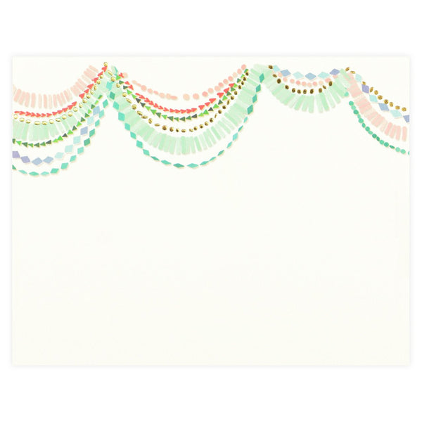 Bash Flat Note Card By Karen Adams