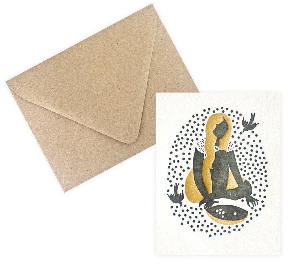 Bison Bookbinding & Letterpress Cinderella Card - GREER Chicago Online Stationery Shop
