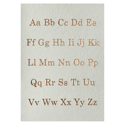 Katie Leamon Alphabet Greeting Card