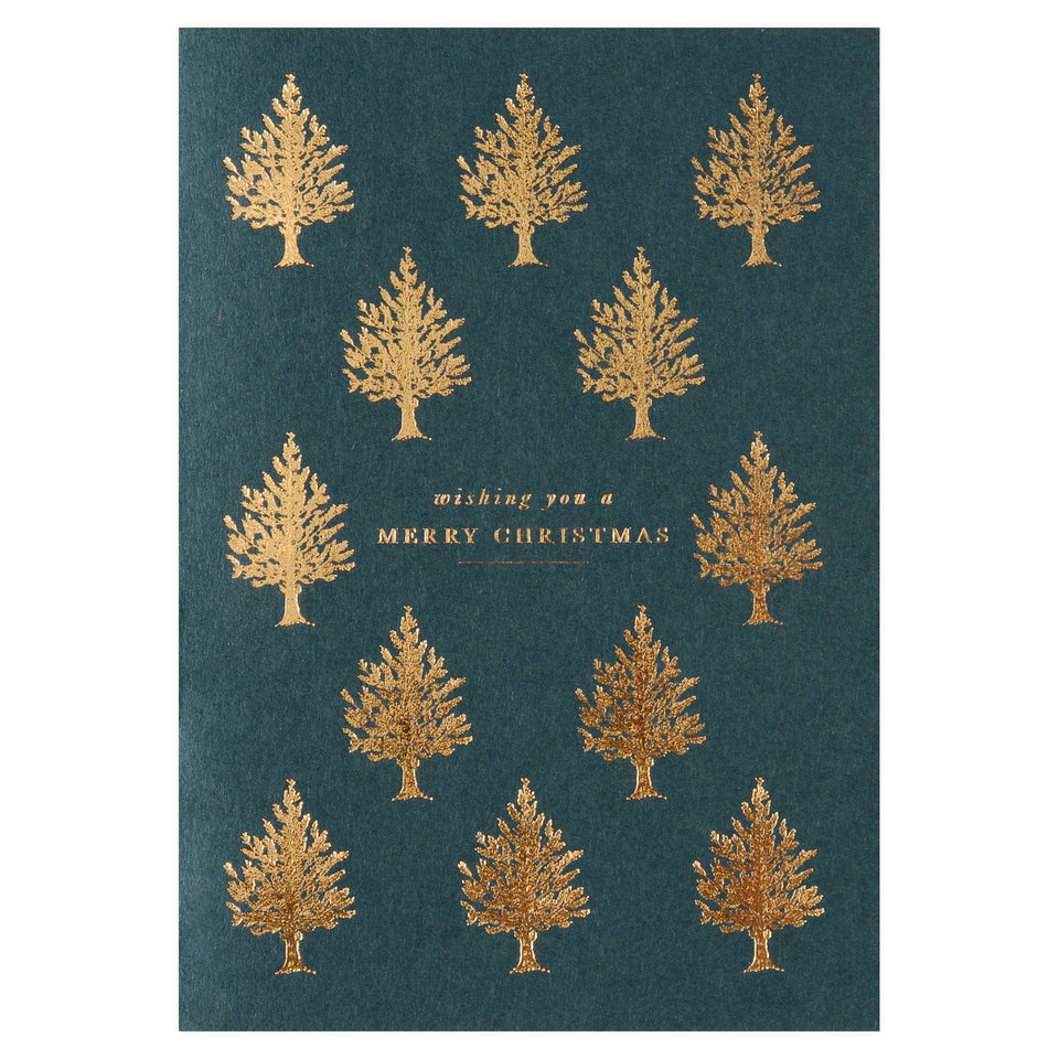 Katie Leamon Copper Christmas Trees Cards Boxed