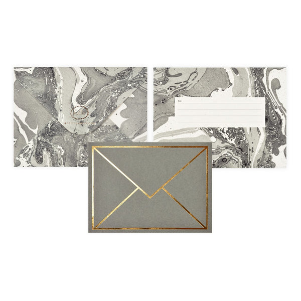Katie Leamon Gold Envelope Greeting Card - GREER Chicago Online Stationery Shop