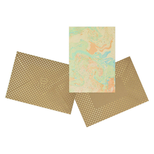 Assorted Messages Marbled Note Cards Boxed