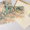 Katie Leamon Marble Folded Thank You Cards Boxed - GREER Chicago Online Stationery Shop