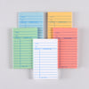 Assorted Colors Library Cards