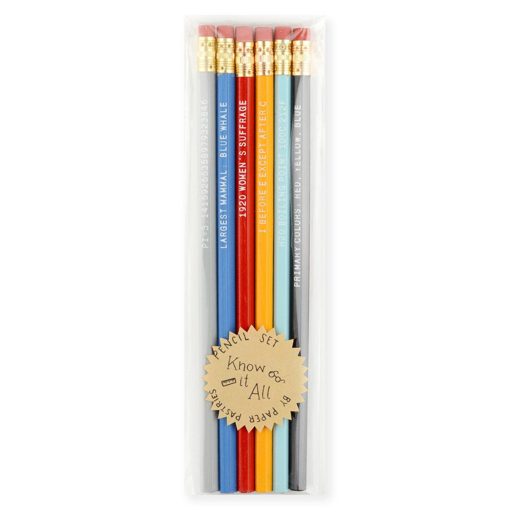 Know It All Pencil Set By Paper Pastries - 1