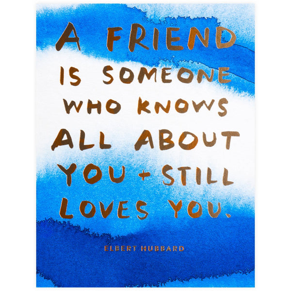 Sycamore Street Press Knows All About You Friendship Art Card - GREER Chicago Online Stationery Shop