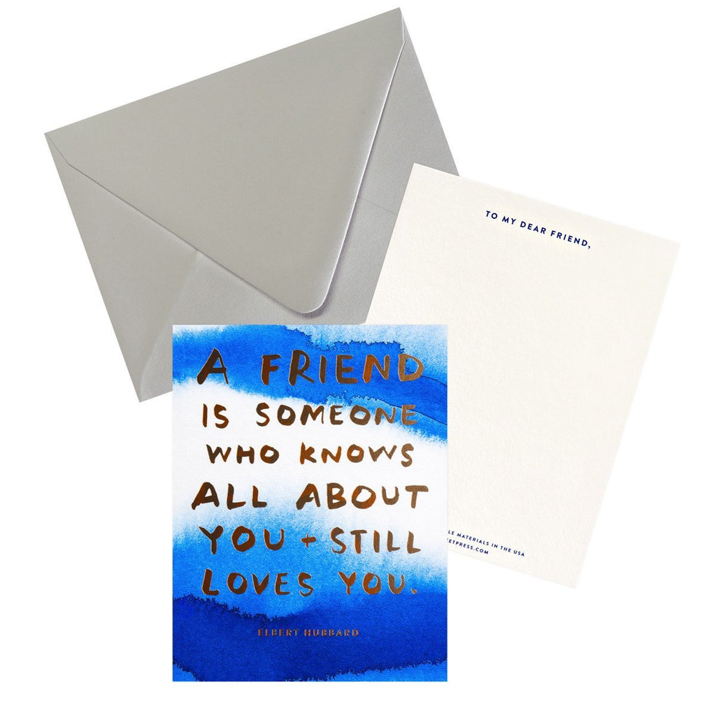 Knows All About You Friendship Art Card - GREER Chicago Online Stationery