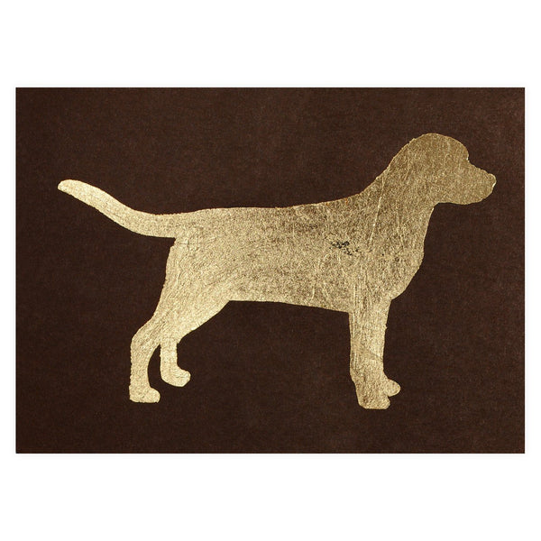 Labrador Gold Leaf Greeting Card By Catherine Greenup