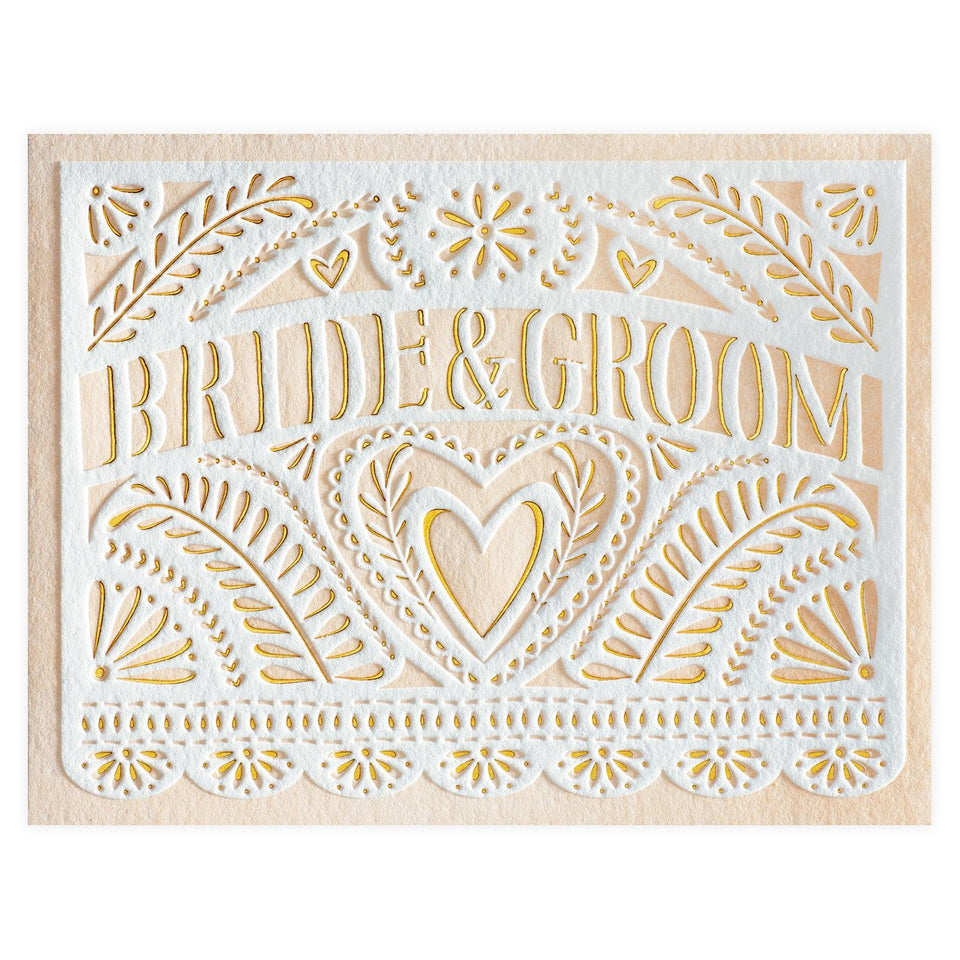 Elum Lace Papel Wedding Card