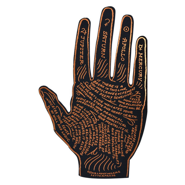 Ladyfingers Letterpress Palmistry Greeting Card - GREER Chicago Online Stationery Shop