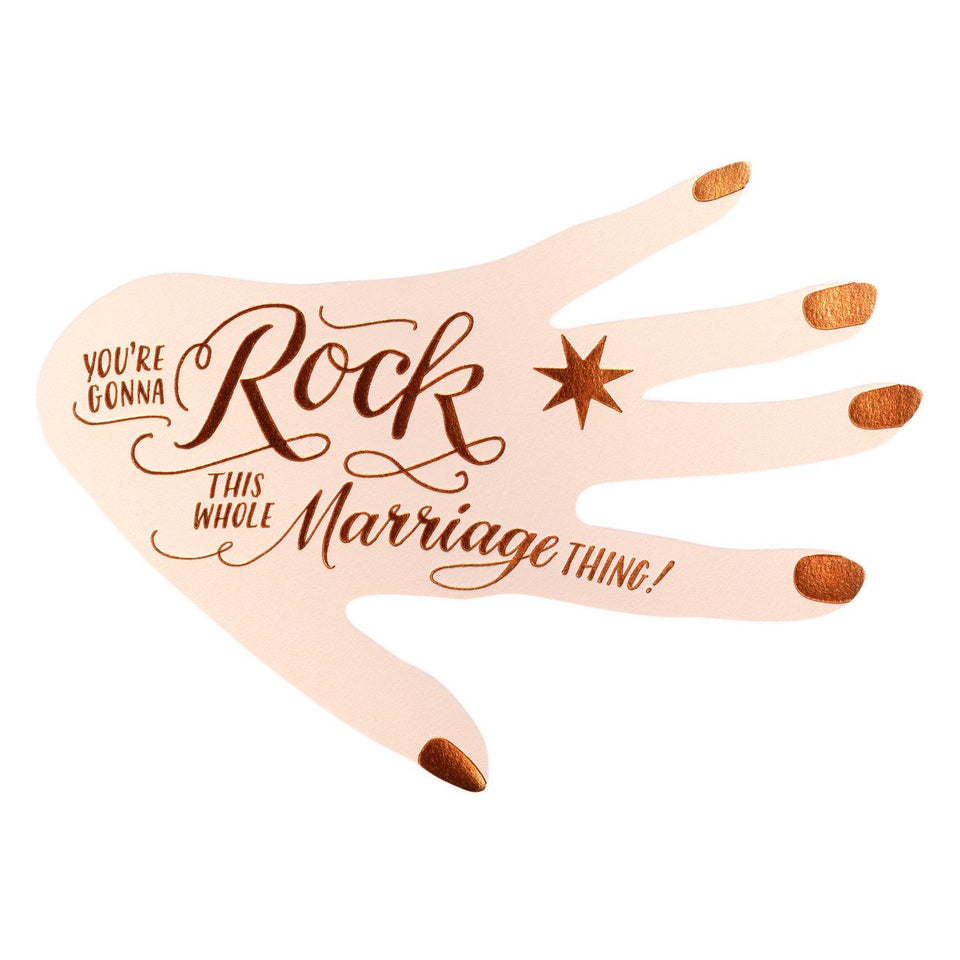 Ladyfingers Letterpress You're Gonna Rock This Marriage Thing Engagement Card