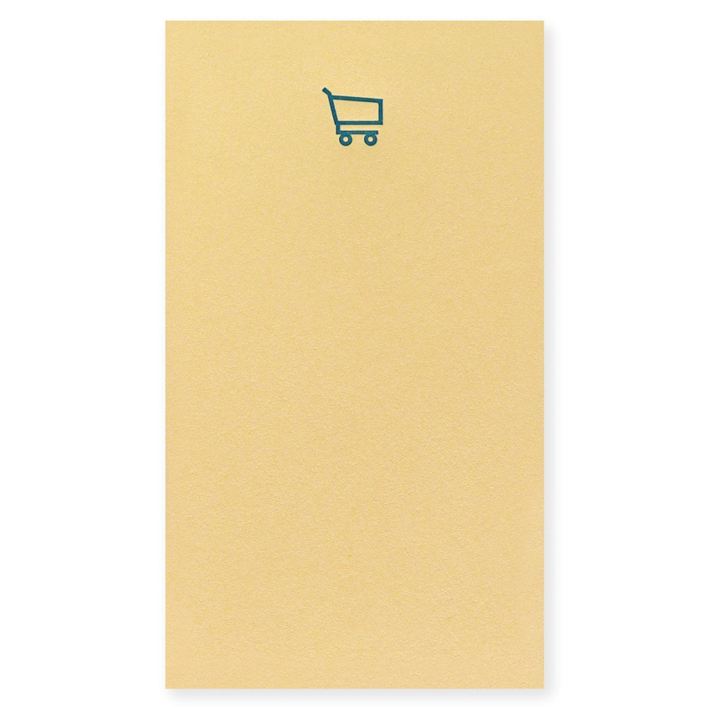 Le Typographe Letterpress Mini Bloc Jotter Notepad Shopping Cart - GREER Chicago Online Stationery Shop