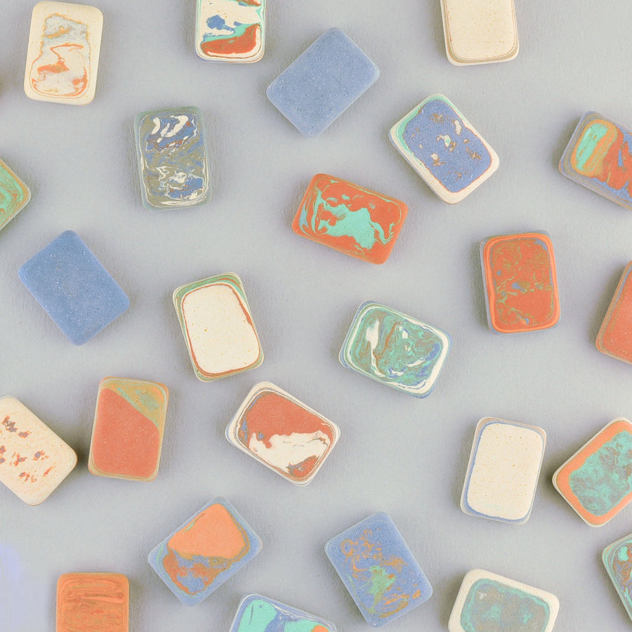 Le Typographe Letterpress Marble Mini Erasers Set of Four - GREER Chicago Online Stationery Shop