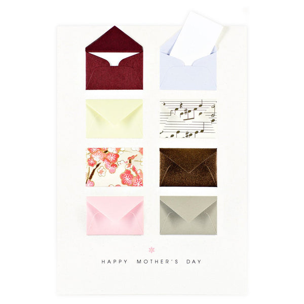 Tiny Envelopes Mother's Day Card - GREER Chicago Online Stationery