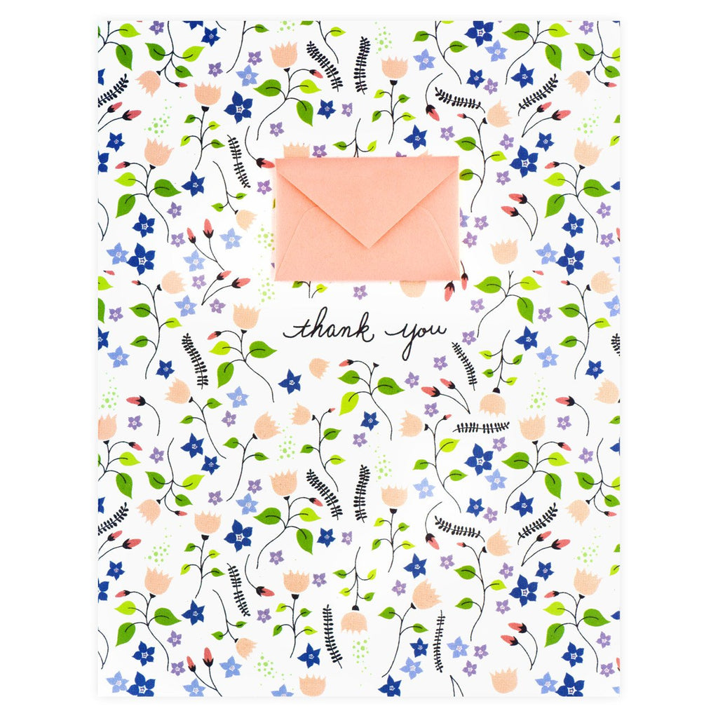 Tiny Envelope August Garden Folded Thank You Cards By Lemon Drop Papers - 1