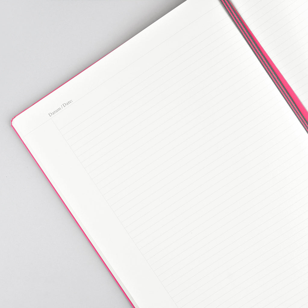 Leuchtturm 1917 Master Slim 121 Large Hardcover Notebook New Pink | Ruled or Dot Grid