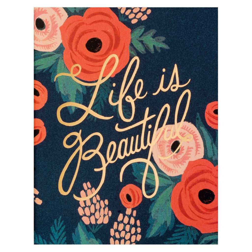 Life Is Beautiful Card By Rifle Paper Co.