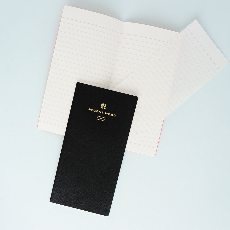 LIFE LIFE Recent Memo Notebook Ruled | Black or Red