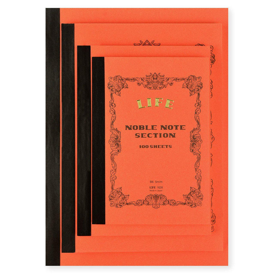 LIFE Stationery Noble Note Section (Grid) Notebook In Four Sizes