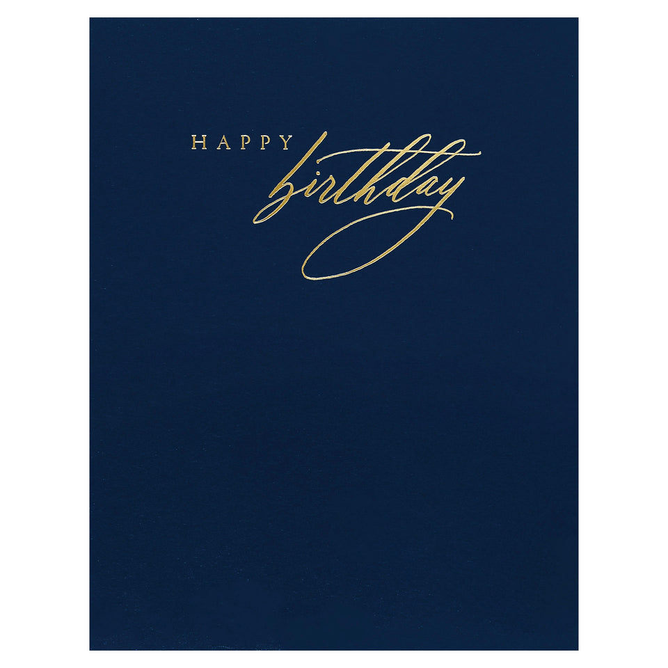 Little Well Paper Co. Navy and Gold Birthday Card