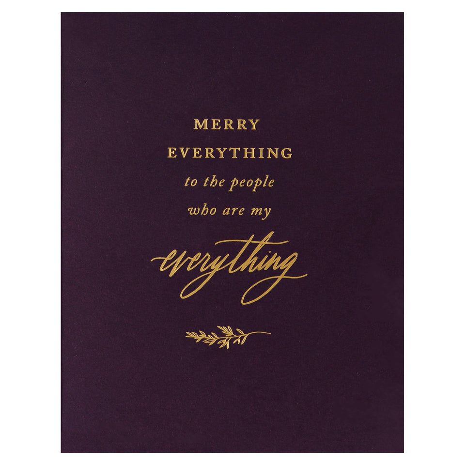 Little Well Paper Co. Merry Everything Christmas Card
